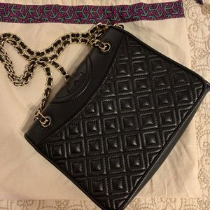 Tory Burch quilted Black cross body